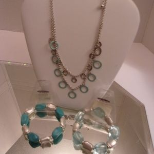 NWT TRENDY DESIGNER NECKLACE BRACELETS & EARRINGS